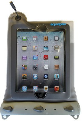 Waterproof case for iPad.